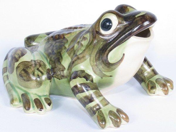 "1: Brush 7 5/8"" Frog Ornament - Mint"
