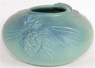 Van Briggle 1974 Commem. Pine Cone Bowl - Mint