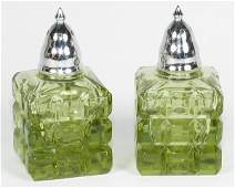 268 Imperial Salt  Pepper in Verde Green  Mint