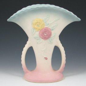 """Hull Open Rose 108-8 1/2"""" Vase - Mint"""