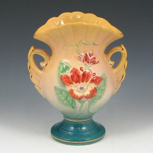"""242: Hull Magnolia 12-6 1/4"""" Hand-Painted Vase - Mint"""