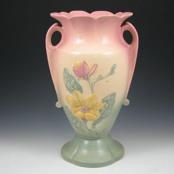 "244A: Hull Magnolia Matte 22-12 1/2"" Vase - Mint"