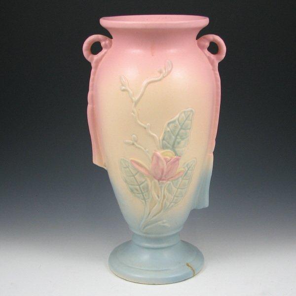 "245: Hull Magnolia Matte 21-12 1/2"" Vase - Mint"
