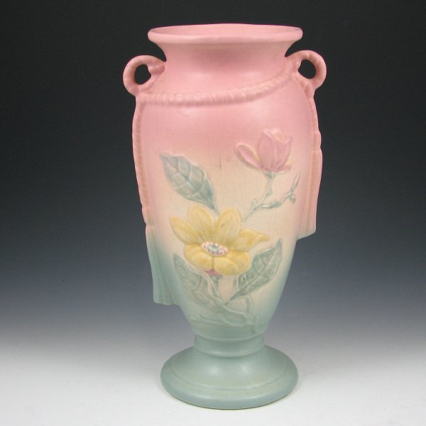 "245A: Hull Magnolia Matte 21-12 1/2"" Vase - Mint"