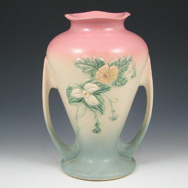 "254A: Hull Wildflower W-12-9 1/2"" Vase - Mint"