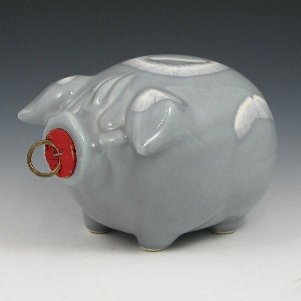 368: Hull Corky Pig Bank in Gray - Mint