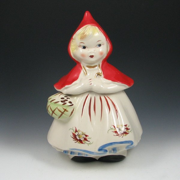 720: Hull Little Red Riding Hood Poinsettia Cookie Jar