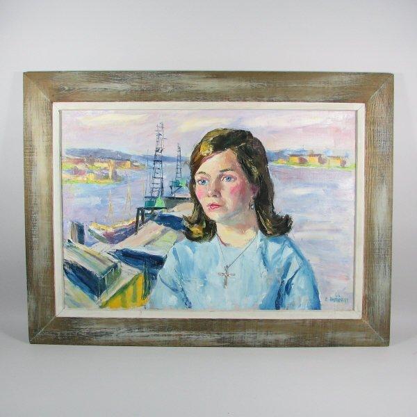 4000: Emerson Burkhart Oil Portrait from Sweden (1966)
