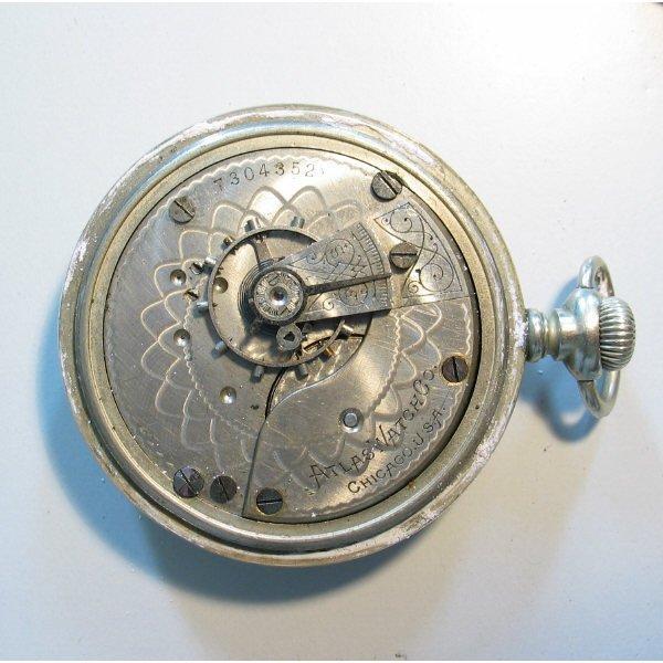 4219: Atlas Watch Co. Pocket Watch in Fahys Case - 4
