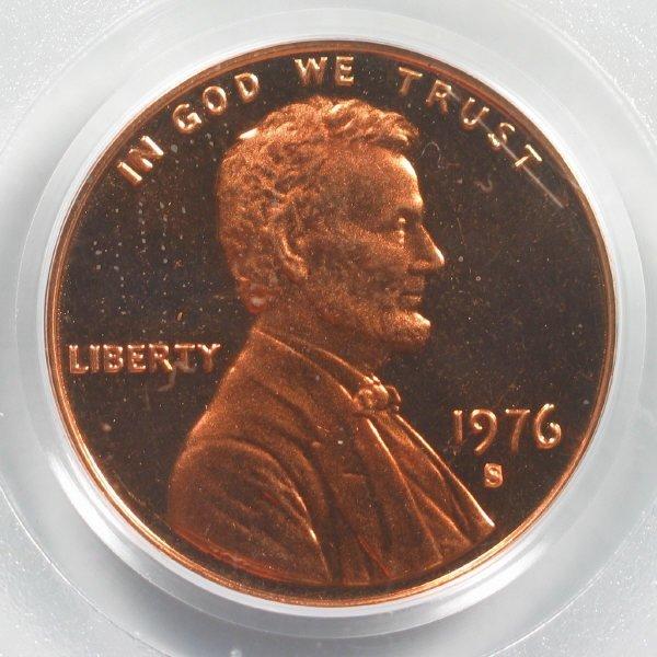 4306: 1976-S Lincoln Cent - PCGS PR69RD DCAM