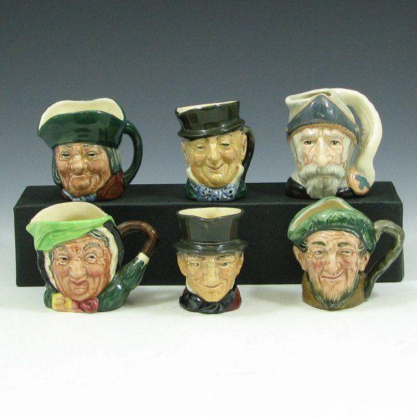 4467: Six Royal Doulton Miniature Toby Mugs