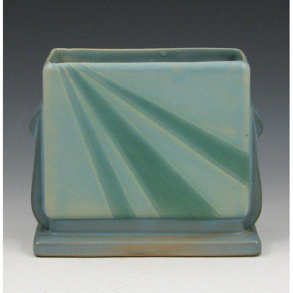 "5002: Roseville Futura 81-5"" Blue Sunray Vase"
