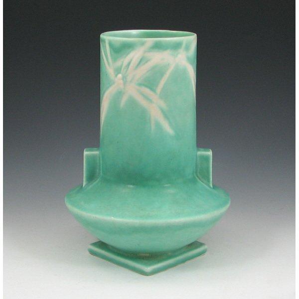 """5003: Roseville Green Dawn 829-8"""" Vase"""