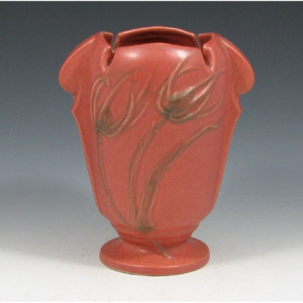 "5006: Roseville Teasel 882-6"" Vase - Mint"