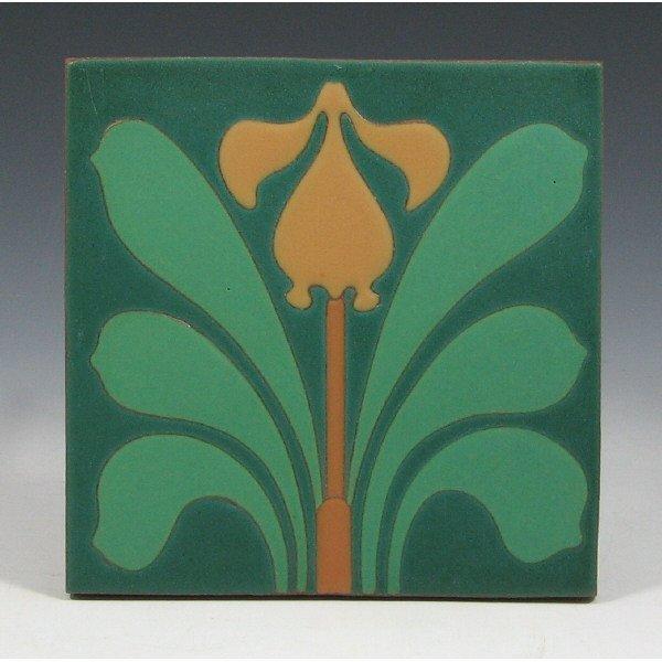 5007: Van Briggle Art Tile - Mint