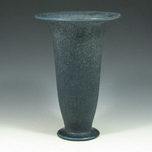 5012: Rookwood 1924 Matte Blue Crystalline Vase