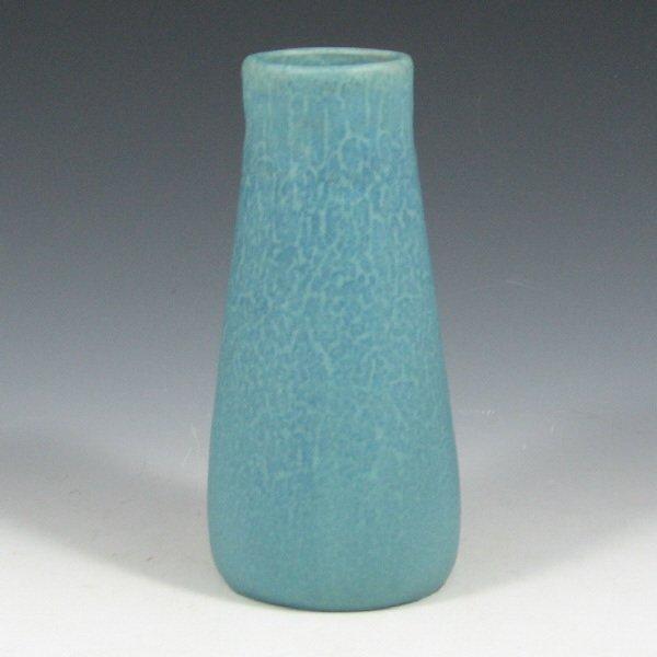 5017: Rookwood 1916 Mottled Matte Blue Vase - Mint