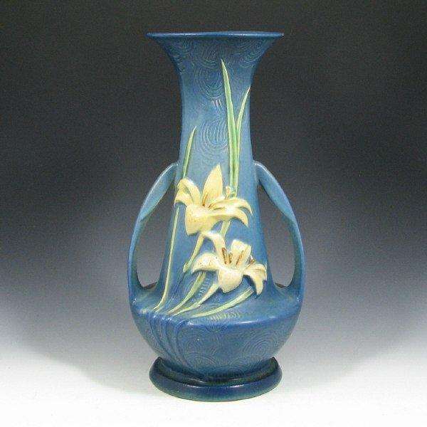 """5021: Roseville Zephyr Lily 140-12"""" Vase - Mint"""