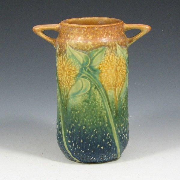 """5022: Roseville Sunflower 485-6"""" Vase"""
