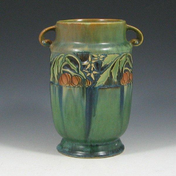 """5110: Roseville Baneda 592-7"""" Vase w/ Labels"""