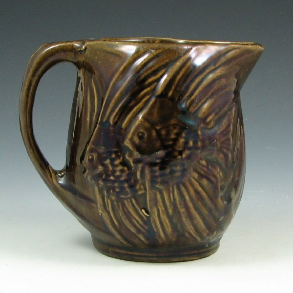 502A: McCoy Early Stoneware Fish Pitcher