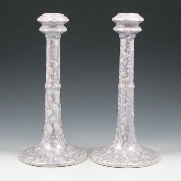 21: Hull Lusterware Candlesticks (Pair) - Mint