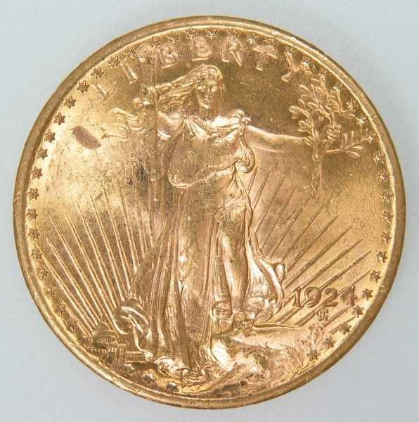 516: 1924 St. Gaudens $20 Gold Coin ANACS MS 63