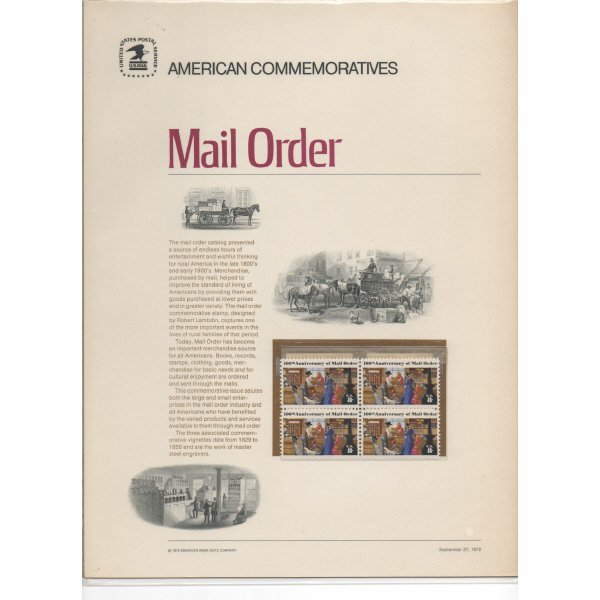 8: Commemorative Stamp Blocks - 1970's