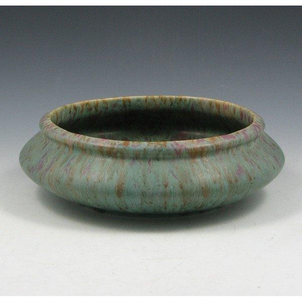 """1004: Roseville Carnelian II 152-7"""" Bowl - Mint"""