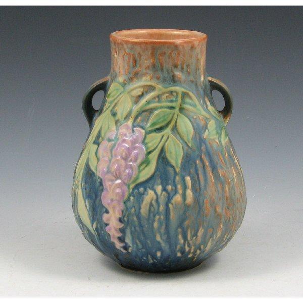 "1005: Roseville Wisteria 631-6"" Vase - Mint"