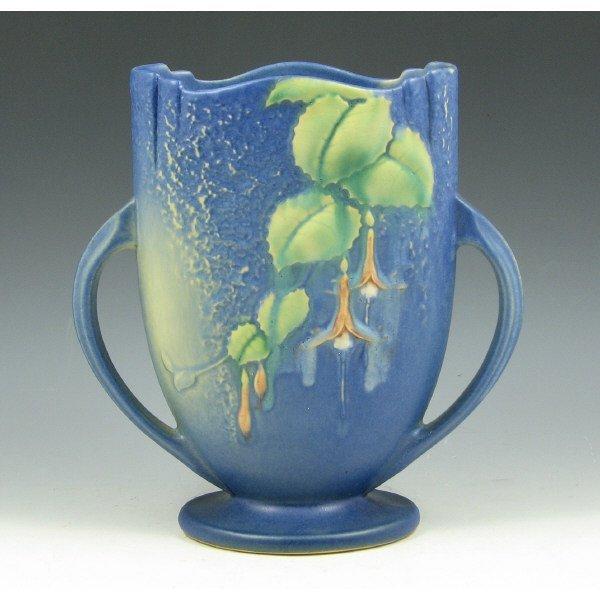 """1007: Roseville Fuchsia 896-8"""" Vase - Mint"""