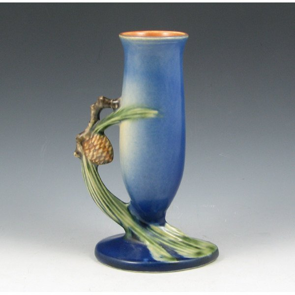 "1022: Roseville Pine Cone 112-7"" Bud Vase - Mint"