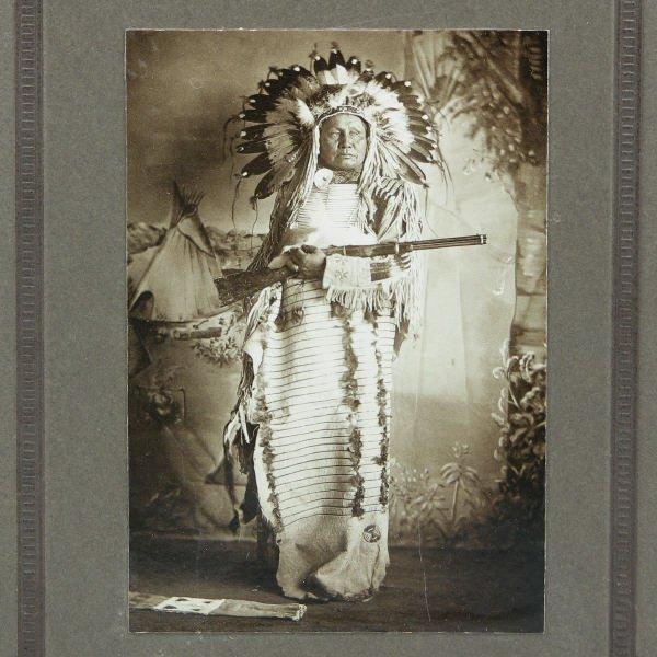 1513: Full Length Native American Indian Portrait w/ Gu
