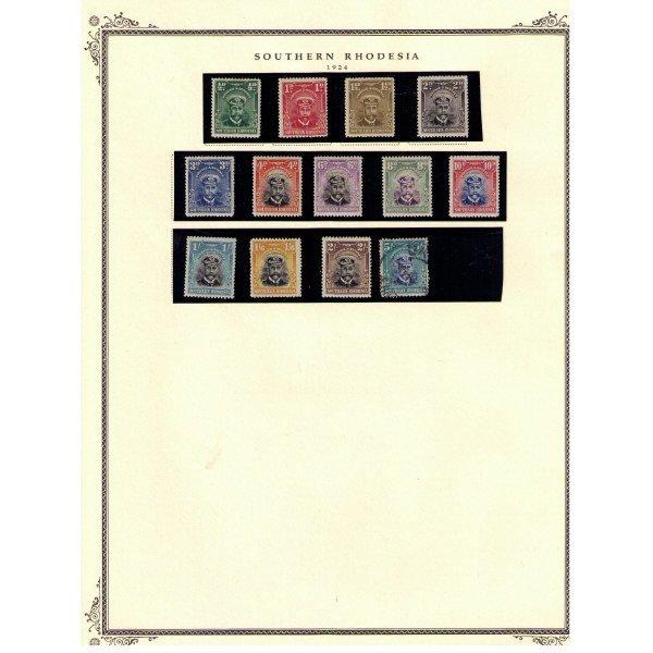 2324: Southern Rhodesia SC# 1-108 (SCV $510+)