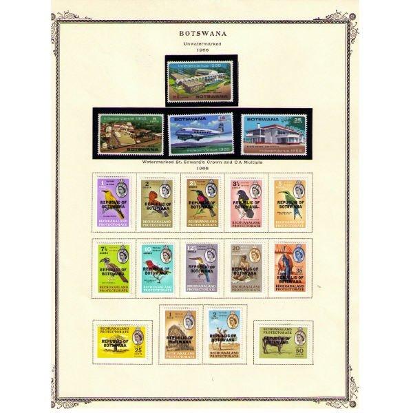 2346: Botswana Stamps (Years: 1966-1998)