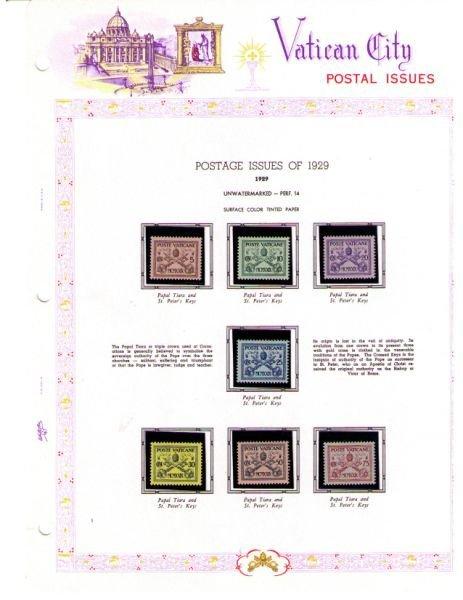 3087: Vatican City Stamp Album