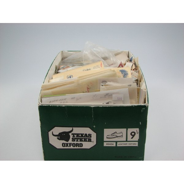 3090: Shoe Box of Stamps