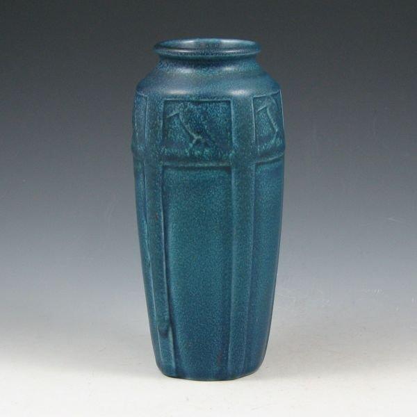 4: Rookwood 1920 Matte Blue Rook Vase - Mint