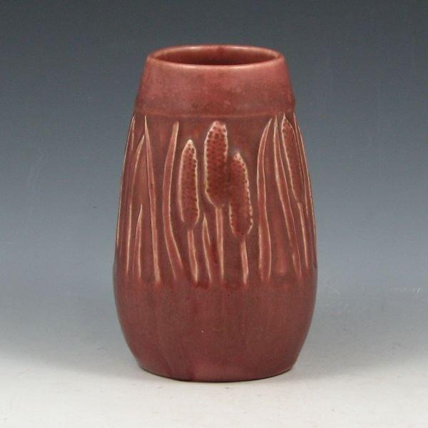 9: Rookwood 1922 Mauve Cattail Vase - Mint