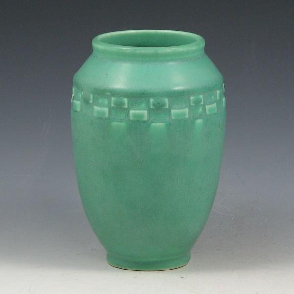 12: Rookwood 1928 Matte Sea Green Vase - Mint