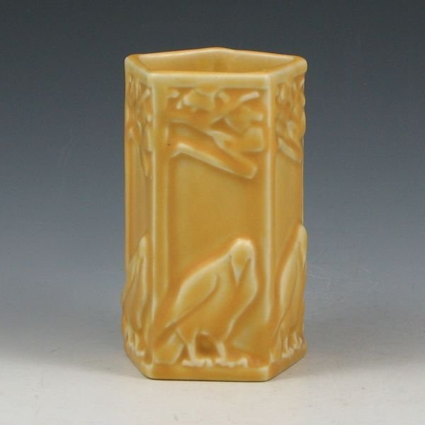 16: Rookwood 1928 Matte Yellow Rook Vase - Mint