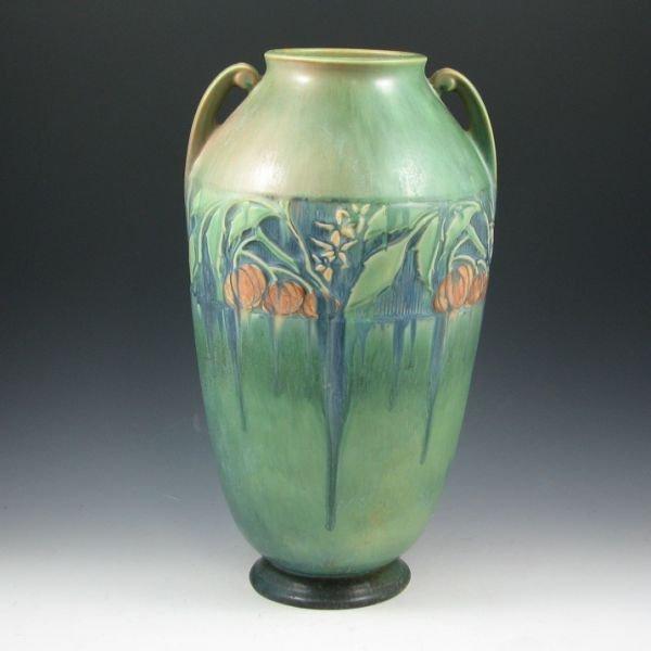 """150: Roseville Baneda 600-15"""" Vase - Mint"""