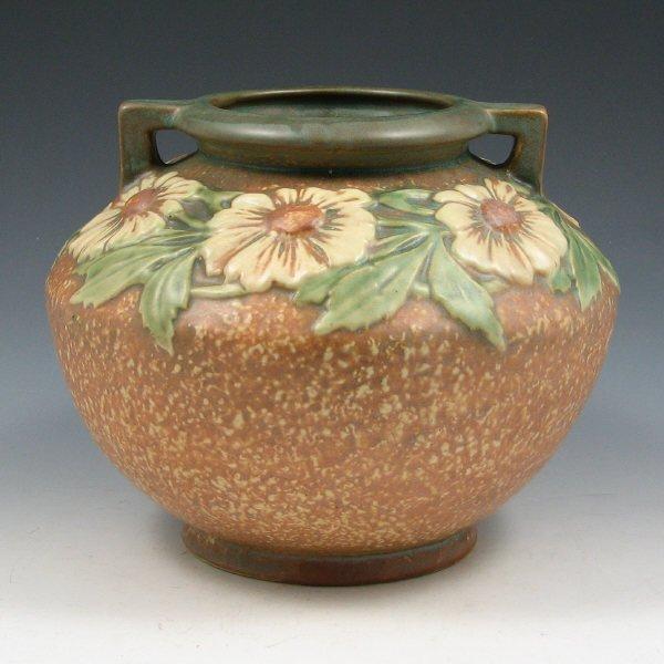 "1002: Roseville Dahlrose 364-6"" Vase - Mint"