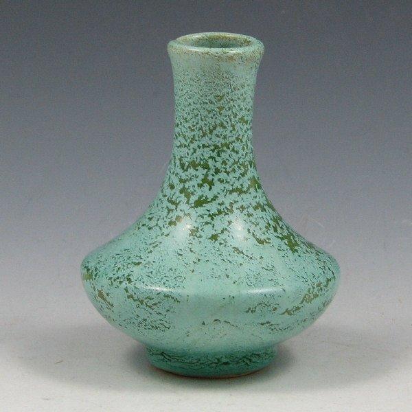 """1009: Weller Frosted Matte 3 1/2"""" Cabinet Vase - Mint"""
