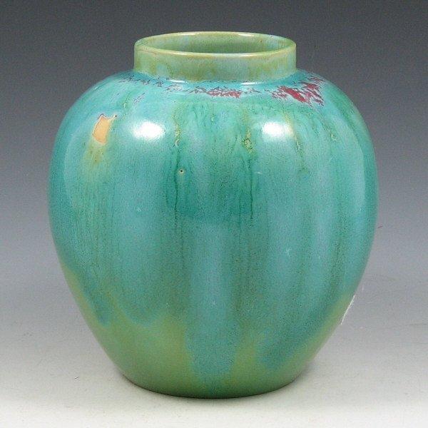 1013: Weller Vase w/ Unusual Nile Glaze