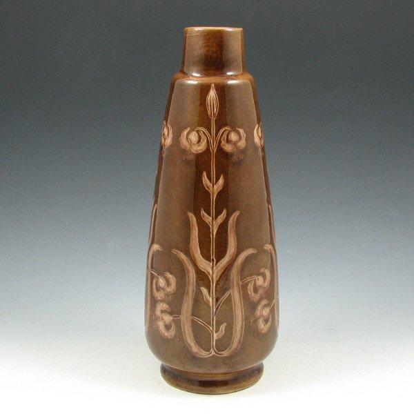 """1014: Vance Avon Faience Co. 11 1/8"""" Vase - Mint"""
