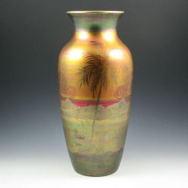 """1017: Weller LaSa Scenic 15 3/4"""" Vase - Excellent"""
