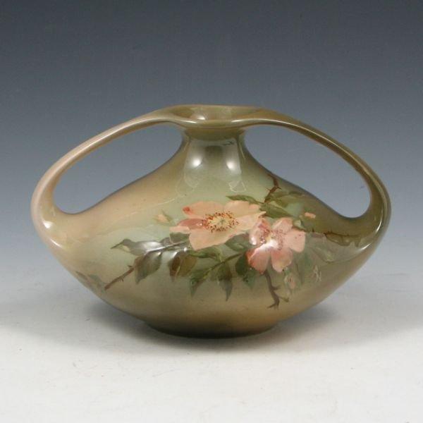 1020: Lonhuda Artist Signed Floral Vase - Excellent