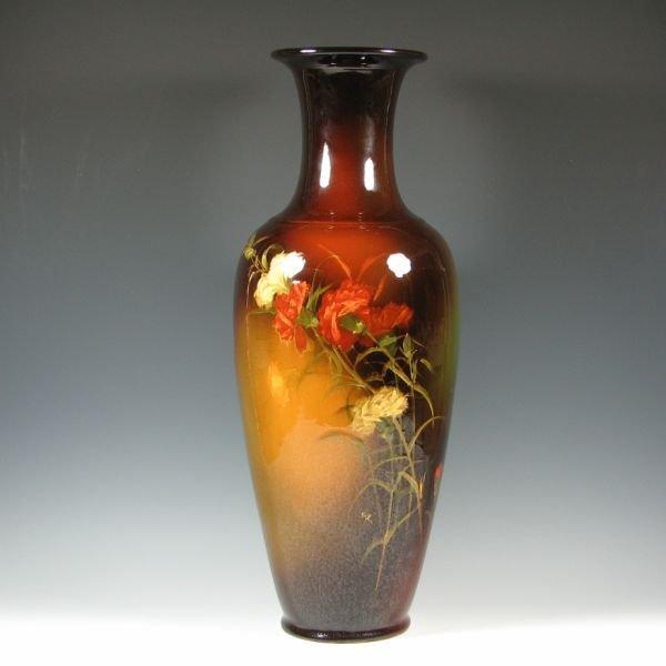 """1061: Weller Louwelsa 24"""" Floor Vase by Roberts - Exc."""