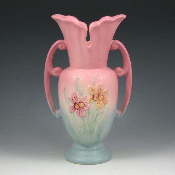 "22: Hull Iris 414-10 1/2"" Vase - Mint"